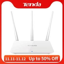 Tenda enrutador WiFi inalámbrico F3, 300Mbps, 2,4G, repetidor WiFi, interfaz en inglés, 1WAN + 3LAN puertos, para casa pequeña y mediana