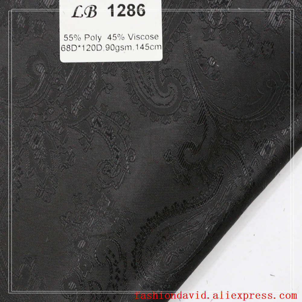 Taffeta Clothing Fabric Lining 100cm*150cm 55% Polyester 45 % Viscose Jacquared Paisley Flower Riboux For Dress Suit Coat Box