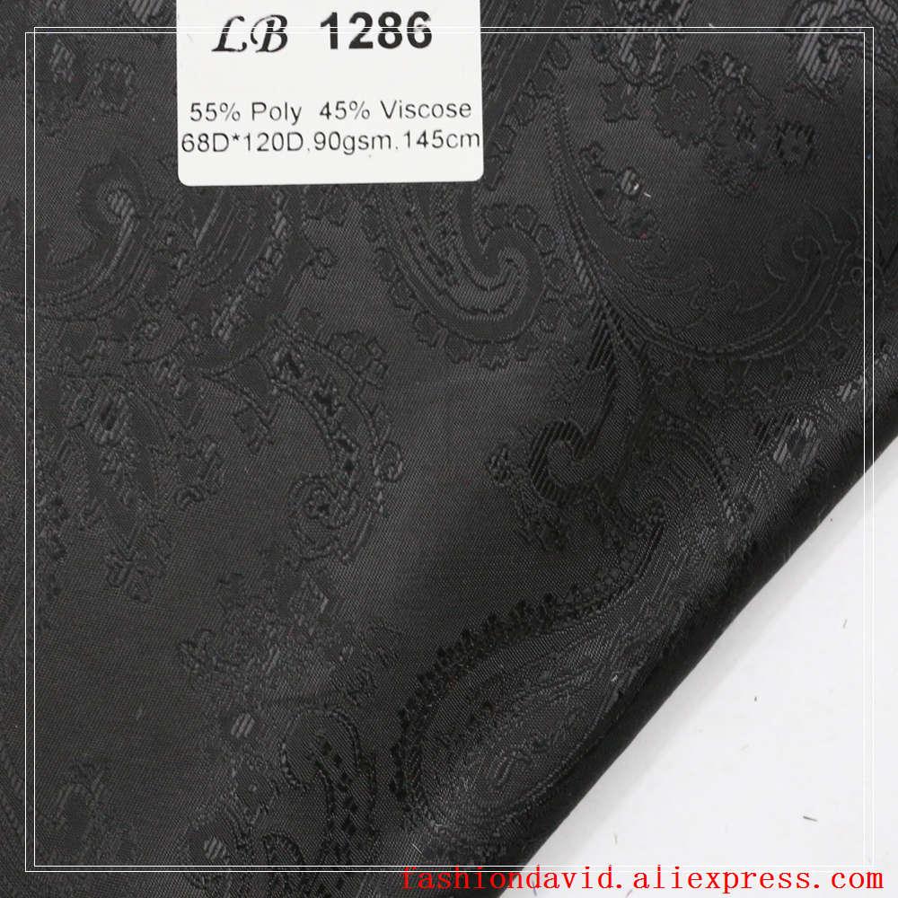 Taffeta Clothing Fabric Lining 100cm*150cm 55% Polyester 45 % Viscose Jacquared Paisley Flower Riboux For Dress Suit Coat Box