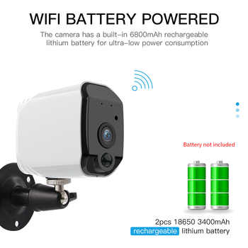 FREDI Lower Power Battery Outdoor IP Camera 1080P Really Wireless Surveillance Camera Home Security Waterproof WiFi IP Camera
