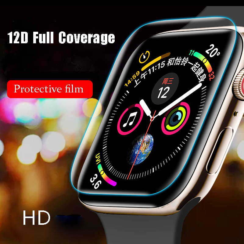 Screen Protector Film For Apple Watch 5 4 44 Mm 40mm Iwatch Series 5 4 3 2 1 42mm 38mm HD Slim Film Watchband Apple Watch Band 3
