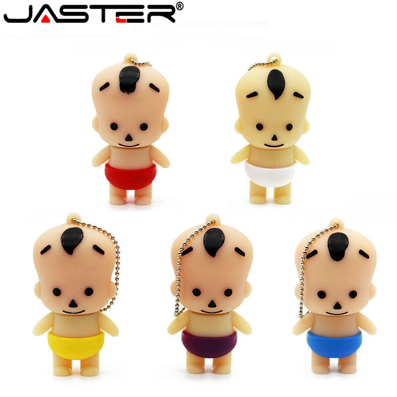 JASTER Cartoon 64GB Cute Child Personality USB Flash Drive 4GB 8GB 16GB 32GB Pendrive USB 2.0 Usb Stick