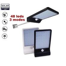 Newest Wireless 48 LED Solar Street Light 450LM Auto PIR Motion Sensor Garden Wall Lamp For Outdoor Waterproof Lighting