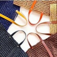 Handbag Shoulder Handle Strap Adjustable Colorful Leather Single Shoulder Bag Strap Accessories for DIY Handmade Woven Kit Bag