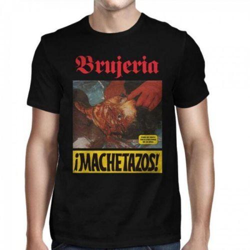 Camisa masculina de 3xl camisa de corte de metal da morte de brujeria machetazos