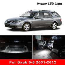 인테리어 LED Saab 9 5 2001 2012 Canbus 차량 전구 실내 돔 맵 독서 트렁크 라이트 오류 없음 자동 램프 부품