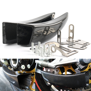 Brake System Air Ducts Cooling+Fixing Kit For DUCATI 899 PANIGALE 2013-2015 959 PANIGALE 2016-2019 Full Carbon Fiber
