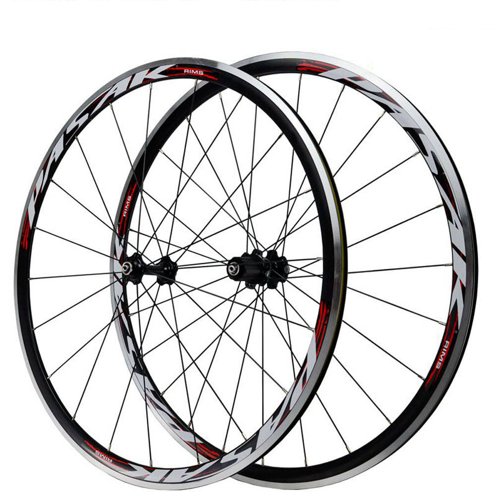 Pasak 700c Road Bike Wheelset 30mm Depth Rim Brake V C Brakes QR F100mm R130mm 20h 24h Bicycle Wheel Ultralight