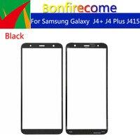 Touchsceen 10pcs \ lote Para Samsung Galaxy J4 + J4 Plus J415 J415F J415DS Frente Outer Lente de Vidro da Tela de Toque substituição de 6.0 polegada|Painel de toque p/ celular| |  -