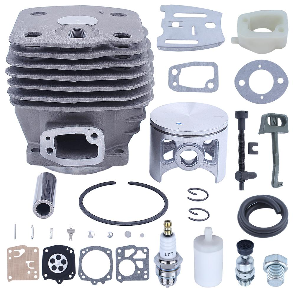 54mm Cylinder Piston Kit for Husqvarna 288XP 181 281 288 Chainsaw 503506301 Intake Manifold Decompression Valve Choke Rod Chain