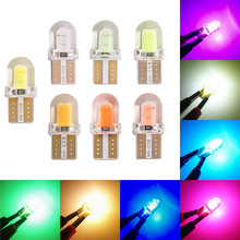 цена на 1pcs LED W5W T10 194 168 W5W COB 8SMD Led Parking Bulb Auto Wedge Clearance Lamp CANBUS Silica Bright White License Light Bulbs