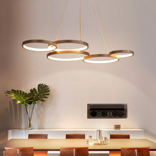 Brown Modern Led Pendant Lights For Diningroom kitchen hanging lights suspension luminaire nordic lamp Aluminum Lamp