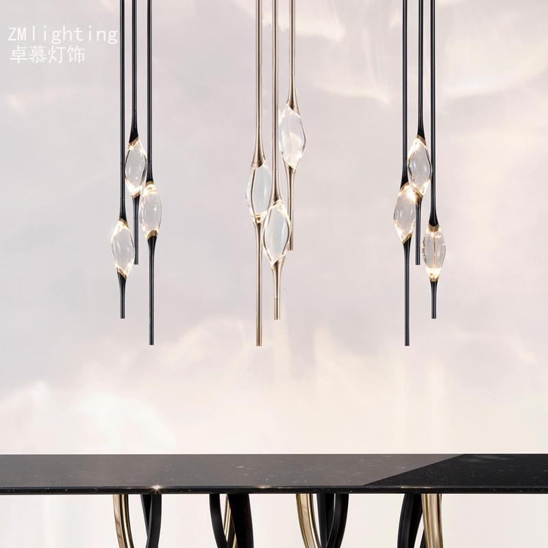 Işıklar ve Aydınlatma'ten Kolye ışıkları'de Iskandinav kolye ışıkları armatür suspendu halat LED kolye ışıkları tavanda asılı lambaları endüstriyel lamba title=