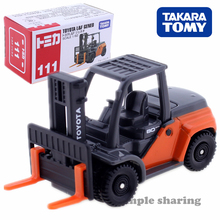Весы Takara Tomy Tomica #111 Toyota L & F Geneo для вилочного подъемника, 1/62, популярные детские игрушки, Литые металлические модели автомобилей
