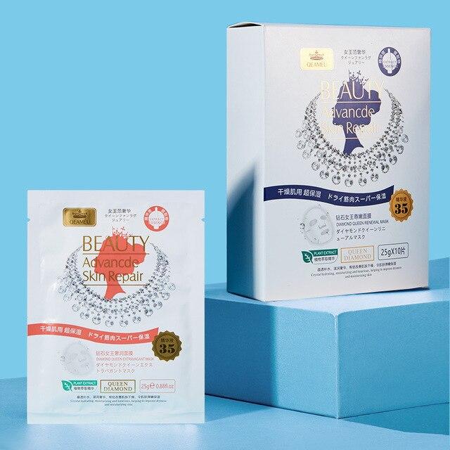 sheet mask Diamond Queen face mask Luxury Invisible Mask Tender Moisturizing Improve Dry Skin Replenishment korean skin care