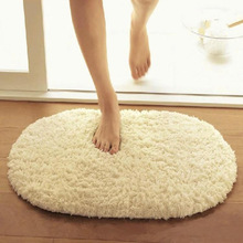цены Oval Bathroom Mat Anti Slip Bath Mat Bathroom Carpet Water Absorption Fluffy Bathroom Carpet Rug for Living Room Floor Mats