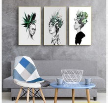 Nordic Decoration Wall Art Canvas Posters and Prints Canvas Painting Picture for Living Room Self Portrait