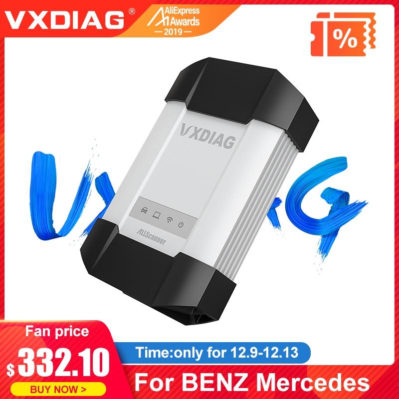 VXDIAG VCX C6 pour l'outil de Diagnostic professionnel de voiture de Benz se connectent mieux que la programmation de scanner de code de l'étoile C4 C5 wifi Obd2 de MB