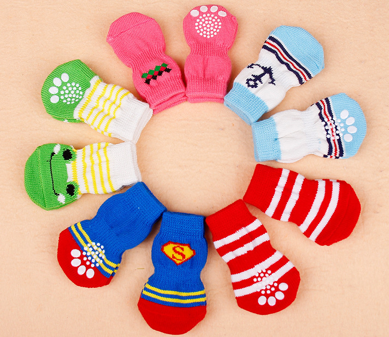 font b Pet b font socks four sets of high quality soft non slip dog
