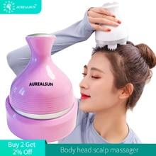 Электрический массажер для головы, уход за здоровьем, антистресс, расслабляющий массажер для тела, глубокая салфетка, беспроводной массаже...