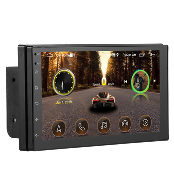 GPS Car Radio 2 Din Android 8.1 Autoradio 7 2din Multimedia MP5 Touched Screen HD Cassette Player Mirror- Link FM Bt Connection image