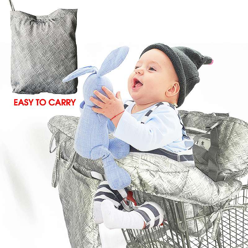 Multifunctional Children Folding Shopping Cart Cover Protection Cover Trolley Soft Pad Infant Safety Seats For Kids + Phone Bag