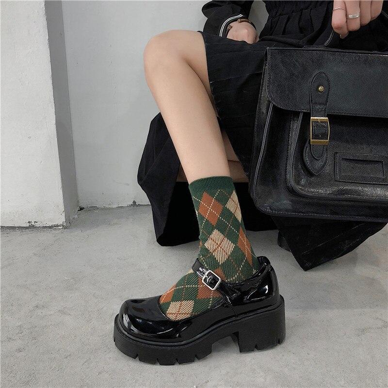mary jane sapatos femininos fivela cinta salto