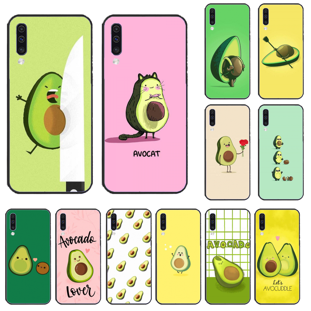 For <font><b>Samsung</b></font> A50 Avocado aesthetic Black Phone Case For <font><b>Samsung</b></font> A50 60 70 A6 <font><b>2018</b></font> plus A8 <font><b>2018</b></font> A7 A9 <font><b>750</b></font> 920 image