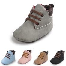 11 цветов; детская кожаная нескользящая обувь с мягкой подошвой для малышей; удобная однотонная Обувь На Шнуровке Для маленьких мальчиков и девочек