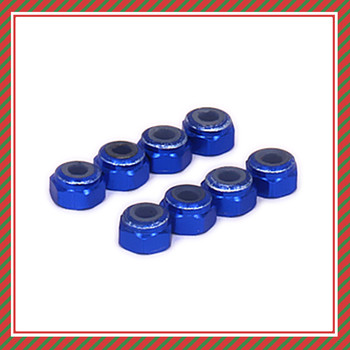 8pcs Alloy Wheel Hex Lock Nut Tire Nut For Rc Hobby Model Car 1/18 Wltoys A959 A969 A979 K929 Aluminum RC Parts Lock Nut image