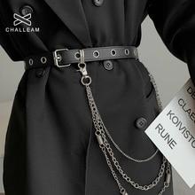 Pants chain women's belt butterfly pin metal pants belt key chain punk hip hop waist