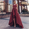 Ever Pretty Dusty Pink Prom Dresses Double V-Neck Sequined Asymmetrical Sleeveless Sparkle Formal Gowns Vestidos Formales 2020 1