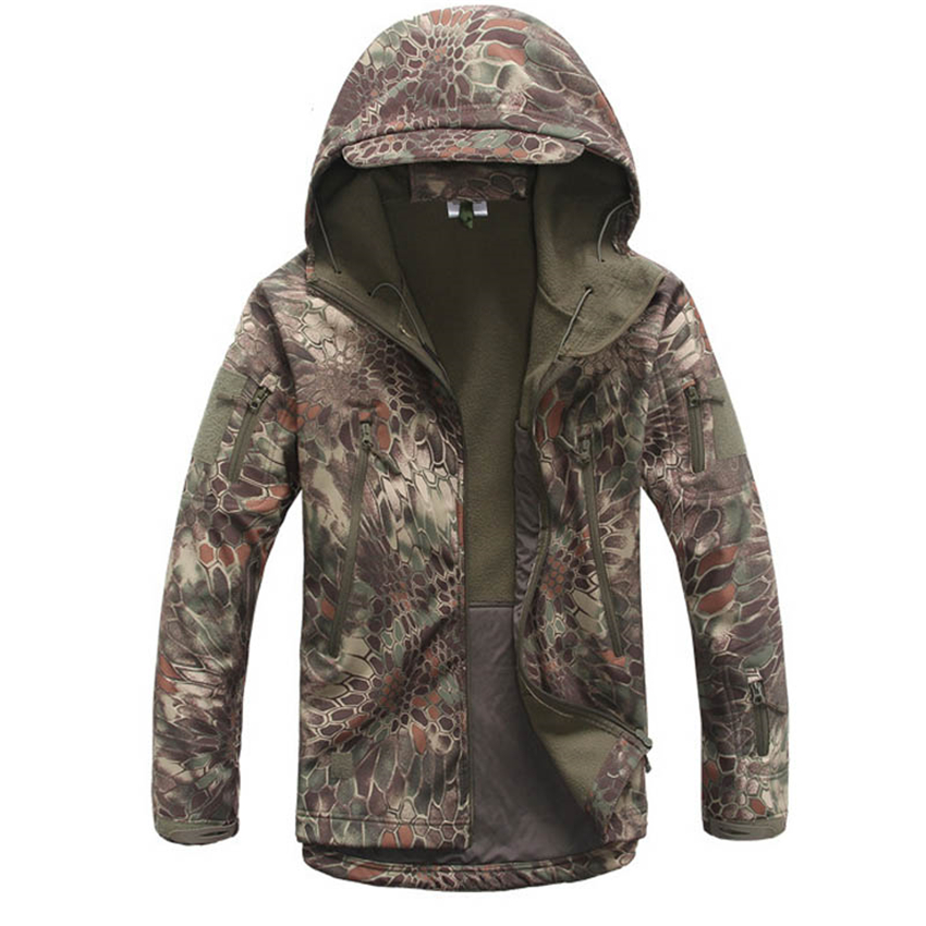 14colors Men Army Camouflage Jacket Military Airsoft Tactical Clothing Outdoors Special Forces Disguise Clothing Waterproof Coat
