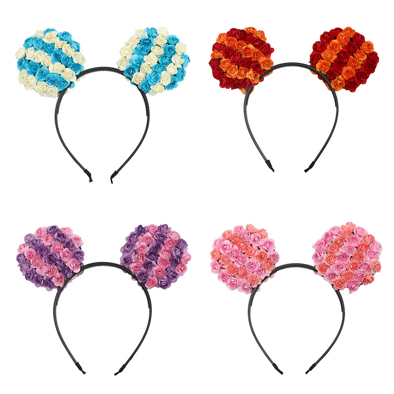 New Mouse Flower Headband For Kid's Party Kawaii Hat Mouse Ears Headgear Toys For Girls Children's Day Gift Anniversaire Enfant