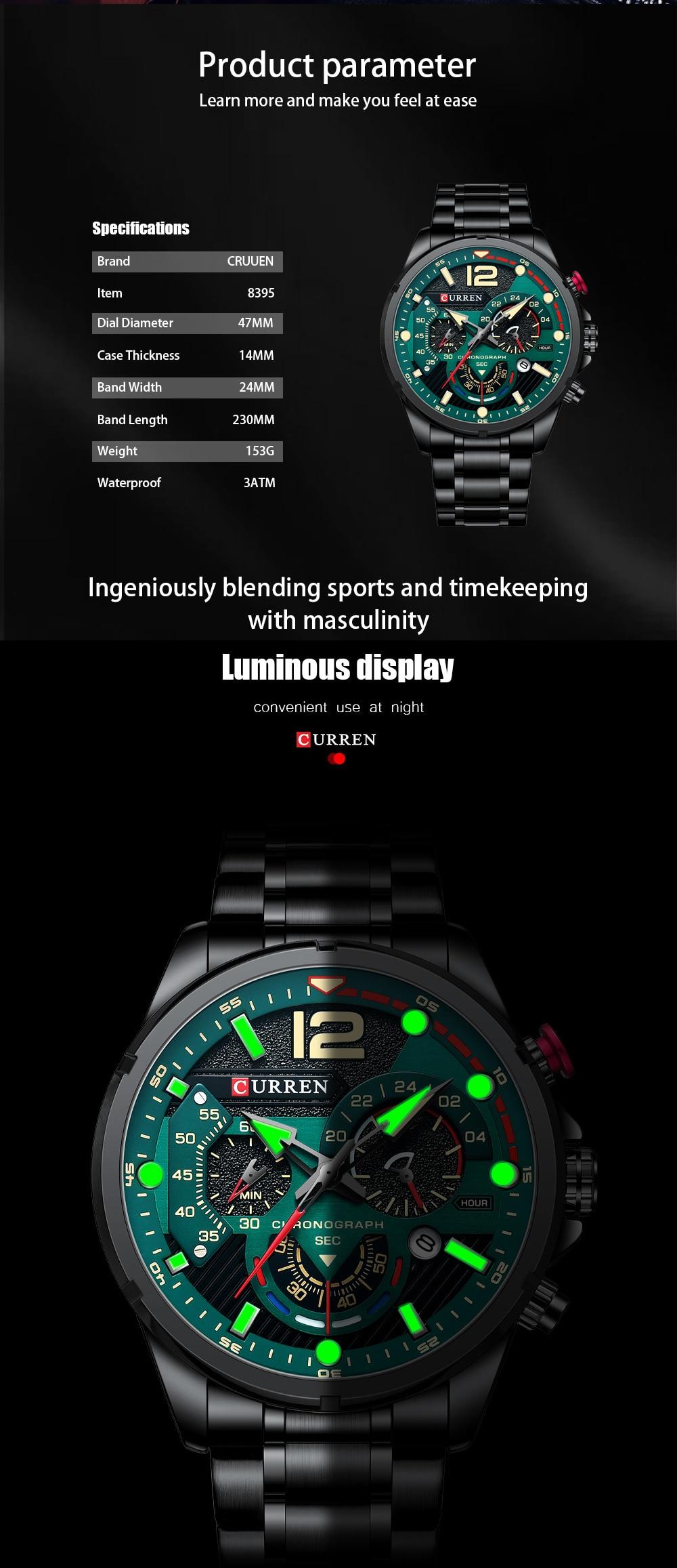 CURREN 8395 Quartz Watch