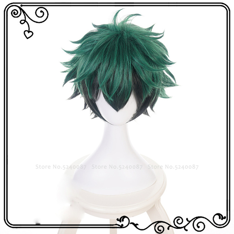 Japanese Anime Midoriya Izuku Deku Wig Role Play Green Hair My Boku No Hero Academia Cosplay Costume Party Comic Exhibition Prop