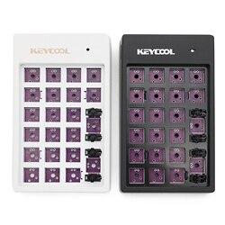 Kit de teclado mecânico personalizado 22 teclas suporta usb hub tipos de efeitos led pcb 20% keycool numpad multimídia chave