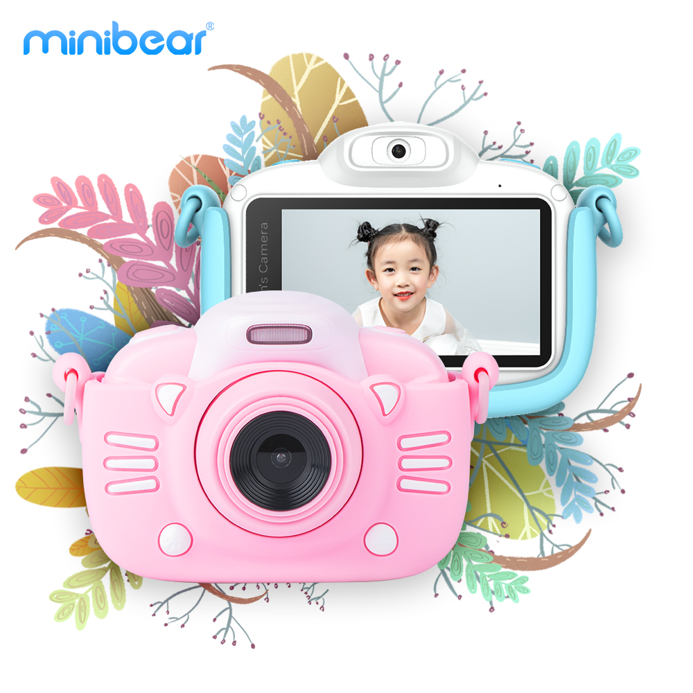 KaKBeir Kids Digital Camera 3-inch IPS Touch Screen 50MP 4K HD Video Selfie Mini SLR Children's Toy Camera For Birthday Gift