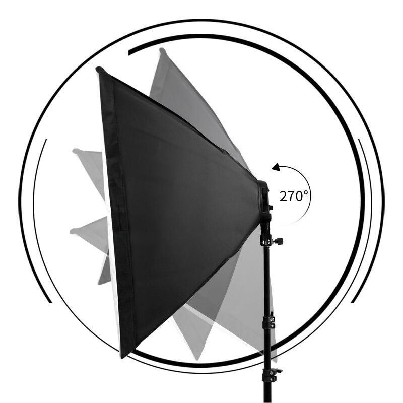 Fotografía Softbox kit de luz 8 Uds maíz E27 luz led para fotografía caja para Flash Studio luz equipo de iluminación de la cámara con bolsa de transporte - 6