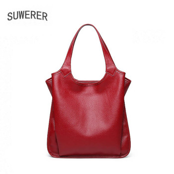 SUWERER New luxury handbags women bags designer leather shoulder bag genuine cowhide leather bags women handbags real cowhide