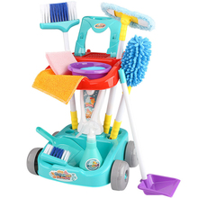 RCtown 1 Set Of Children's Cleaning Tool Toy Simulation Plastic Household Pretend Play Cleaning Set For Kids Educational Gift X3