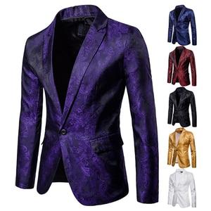 Men Suit Banquet Wedding Suit Party Suit Bar Night Club Suit Men Tops Bright Suit Paisley Suit Fashion Men's Suit