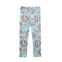 Girls Pants Tights Rainbow-Pony Baby Cotton Children's Brand 1160