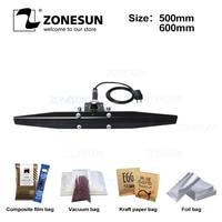 ZONESUN Direct heat Pliers impulse sealing machine handheld electric composite Aluminum foil kraft paper packing sealer packer