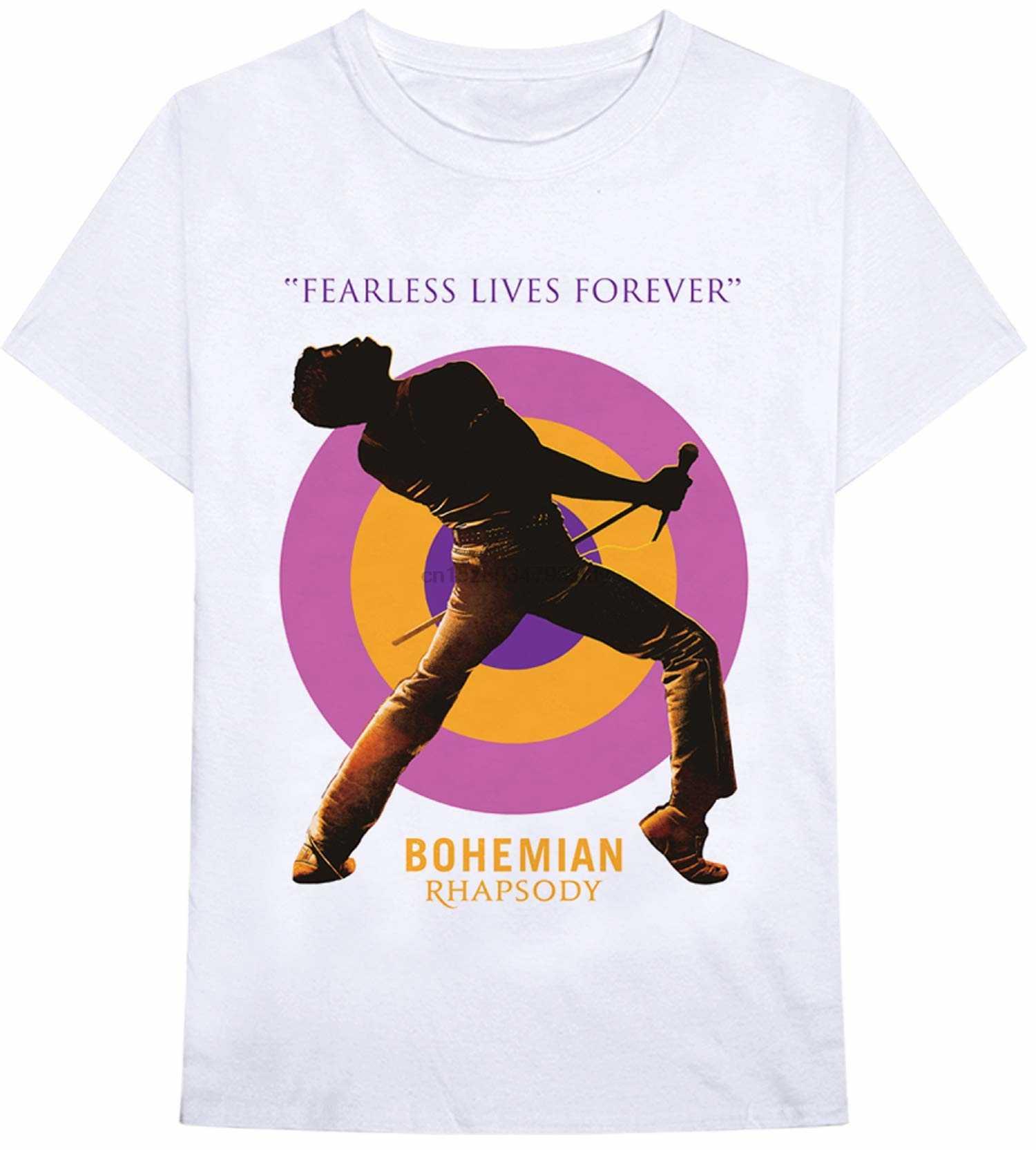 Funibini Bohemian Rhapsody Queen Film T-shirt Berlisensi Queen Kemeja