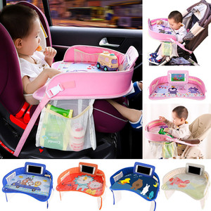 Baby Seat Car Tray Plates Portable Waterproof Dining Drink Table for Kids Car Seat Child Cartoon Toy Holder Storage Baby Fence