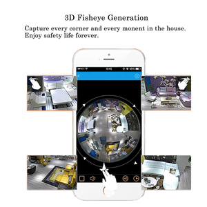 Image 2 - Mini Kamera WiFi Panorama Glühbirne Fisheye 360 Grad 960P Nachtsicht Hause Überwachung Motion Erkennung Video Micro Cam