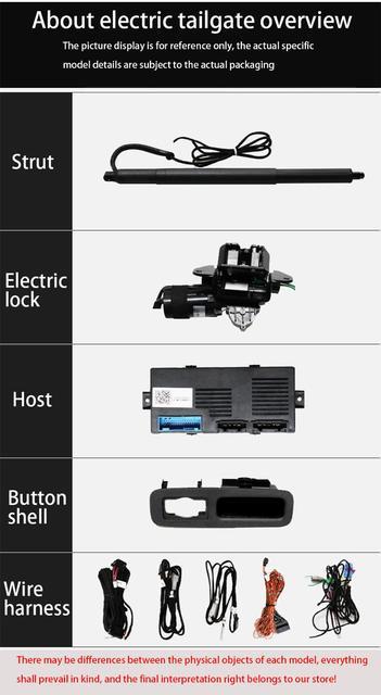 Купить автомобильный электрический подъемник задних ворот zjcgo система картинки цена