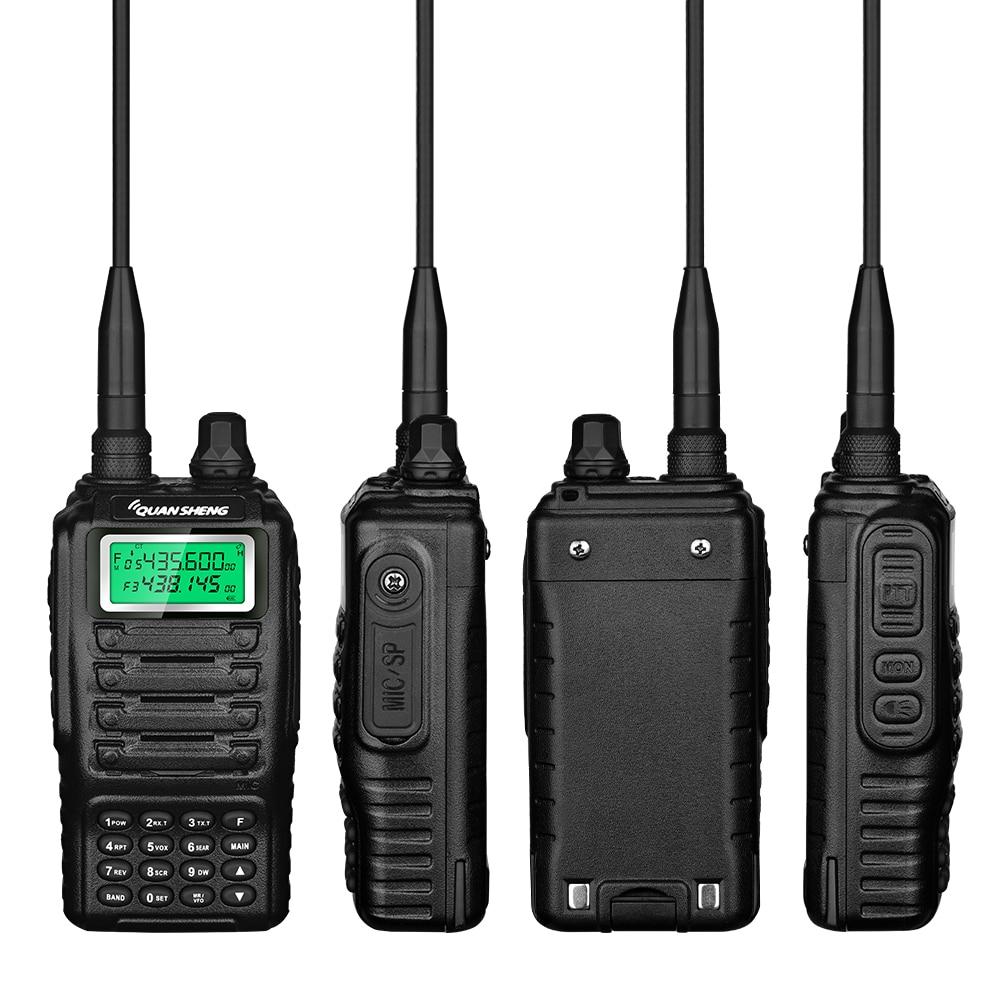 UHF VHF Transceiver HF Walkie-Talkie Long Range Diy Ham Mobile Radio Repeater Transmitter Portable Quansheng TGUV2 For Hunting