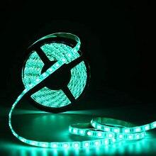 Rgb smd5050 4m led tiras de brilho alto azul/branco morno/verde/vermelho/amarelo decro iluminação para sala de estar luz preta tira conduzida